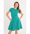 4b413664520 Зелена разкроена рокля на точки - 1008598 - Fashion Supreme.co.uk