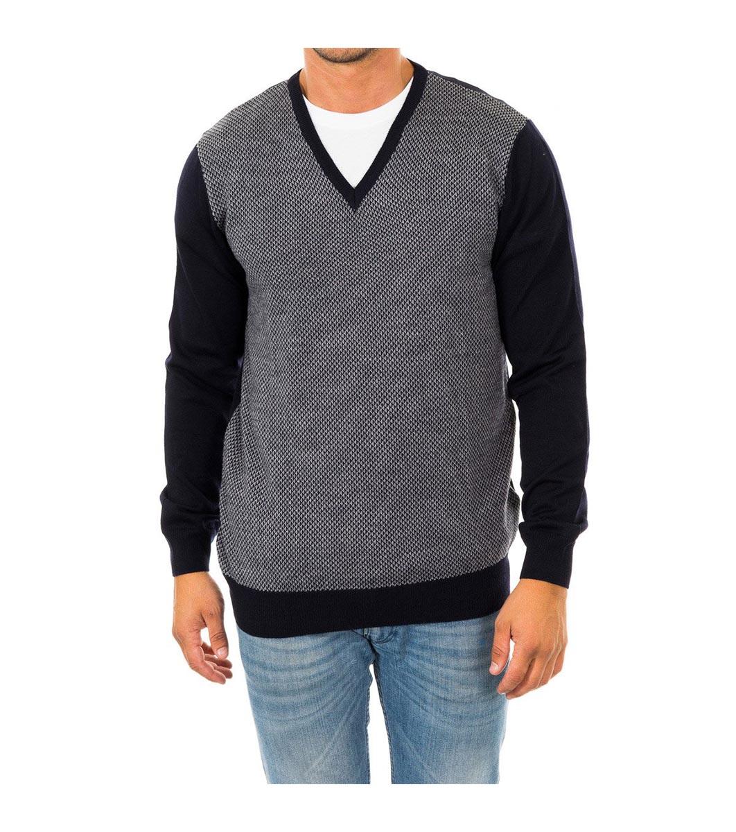 ca95b4c441e Мъжки вълнен пуловер в черно и сиво - 799497 - Fashion Supreme.co.uk