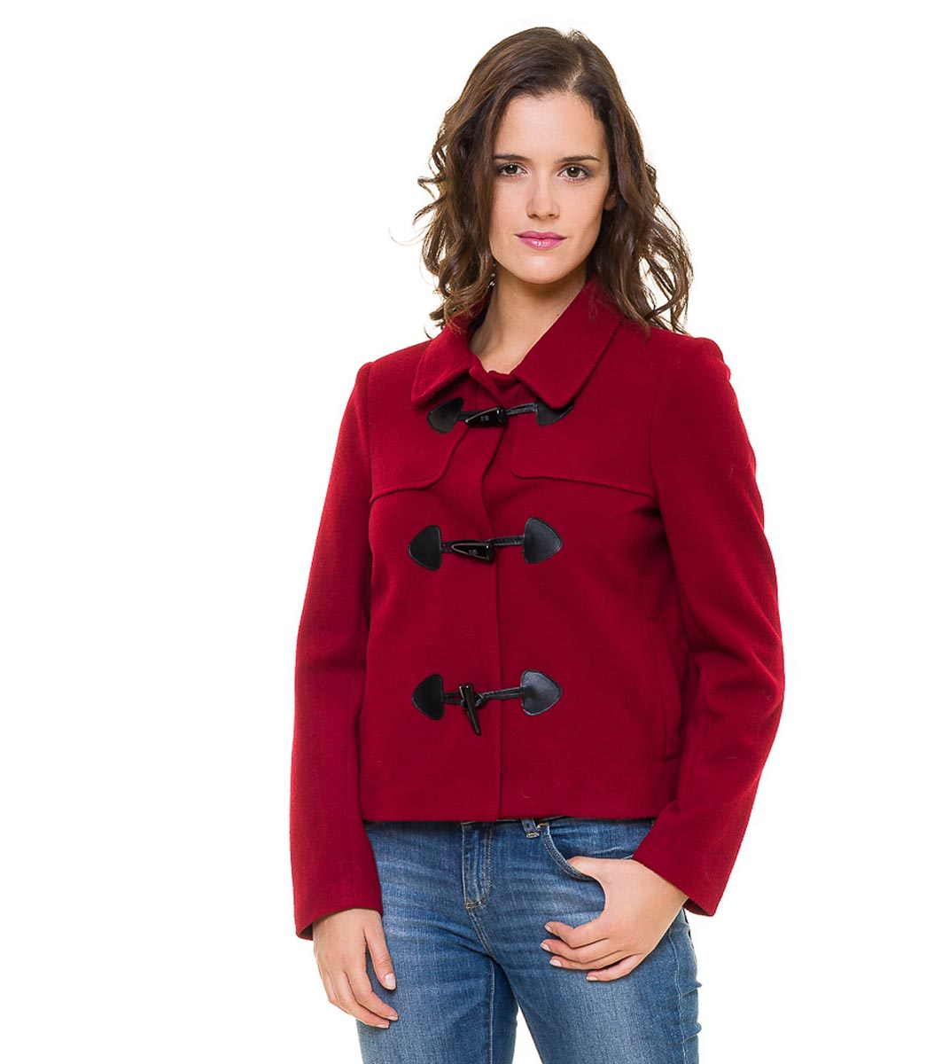 bb647802faf Късо дамско палто в цвят бордо - 2322560 - Fashion Supreme.co.uk