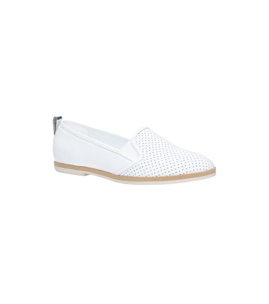 157de09ff45 Бели дамски обувки от естествен кожа с перфорации Seva - 2369859 ...