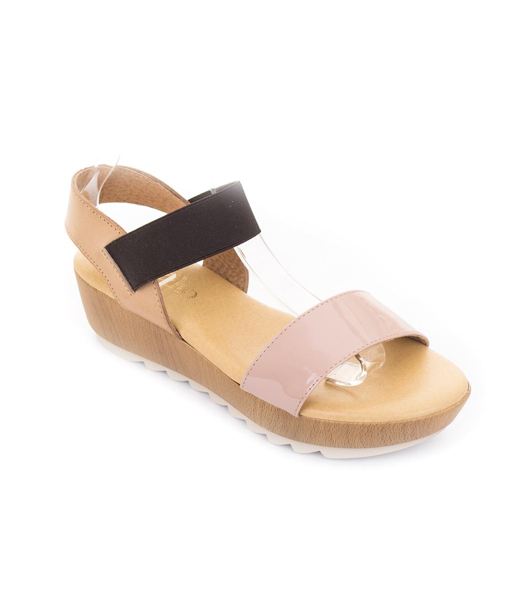 bceb507ccaa Кожени дамски сандали в бежово и кафяво - 2347835 - Fashion Supreme ...