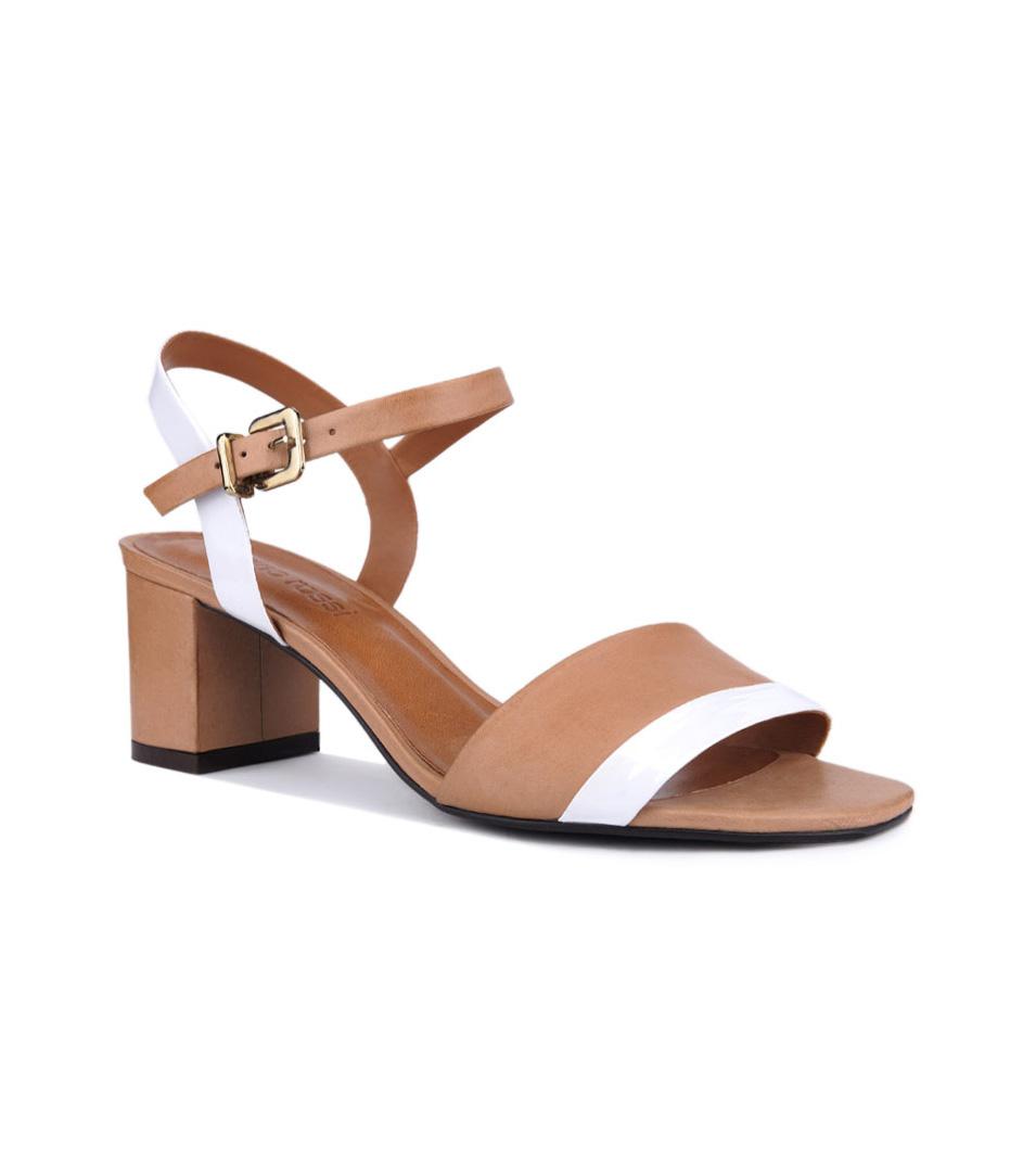 5b7b61f5e0e Кожени дамски сандали в кафяв нюанс и бяло Darla - 1581191 - Fashion ...