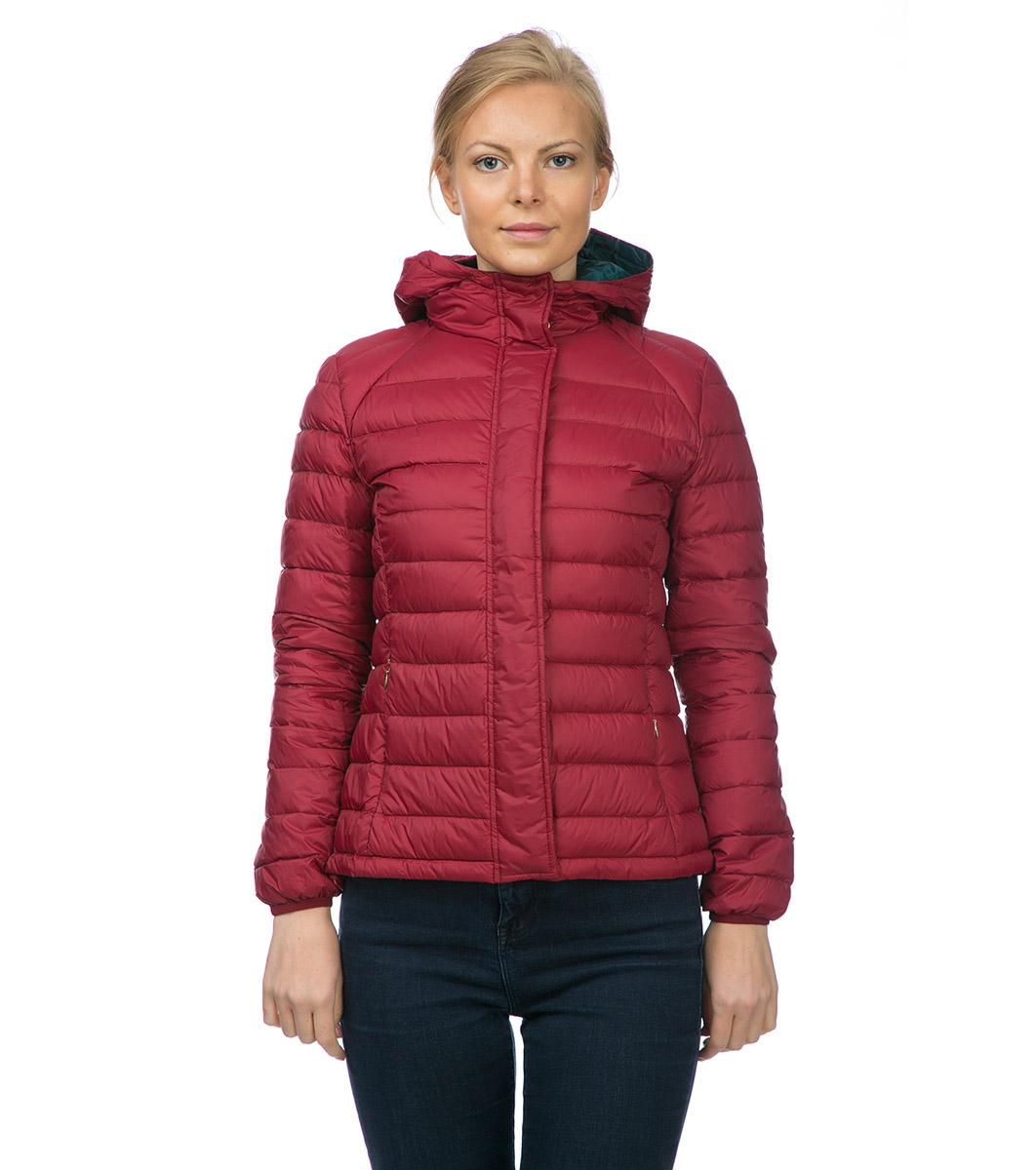 539be50f6e5 Зимно дамско яке в цвят бордо с качулка - 1290757 - Fashion Supreme ...