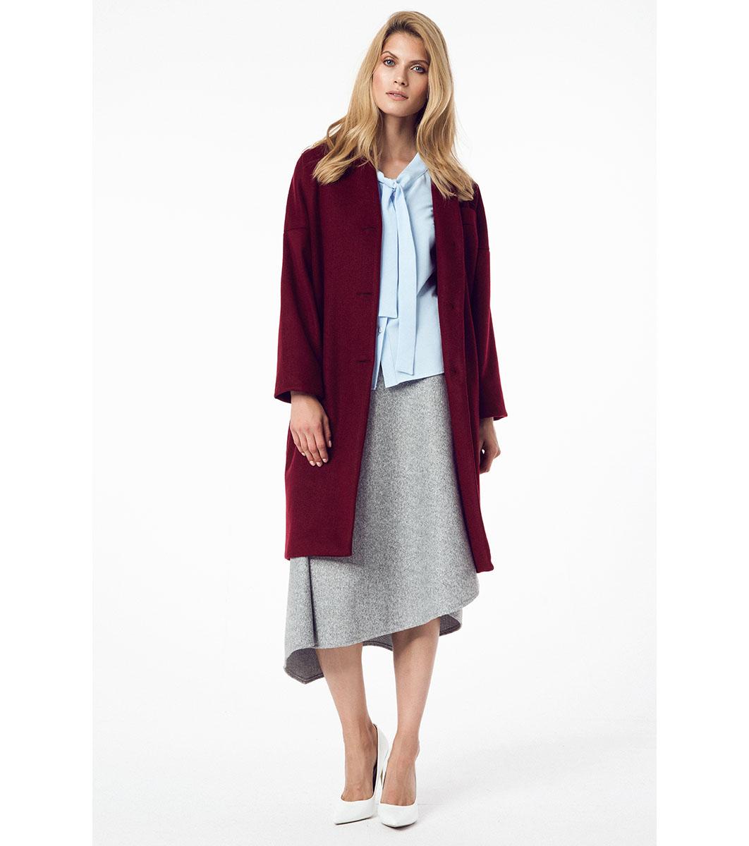 eb734f008ab Дамско вълнено палто в цвят бордо Lina - 1720674 - Fashion Supreme.co.uk
