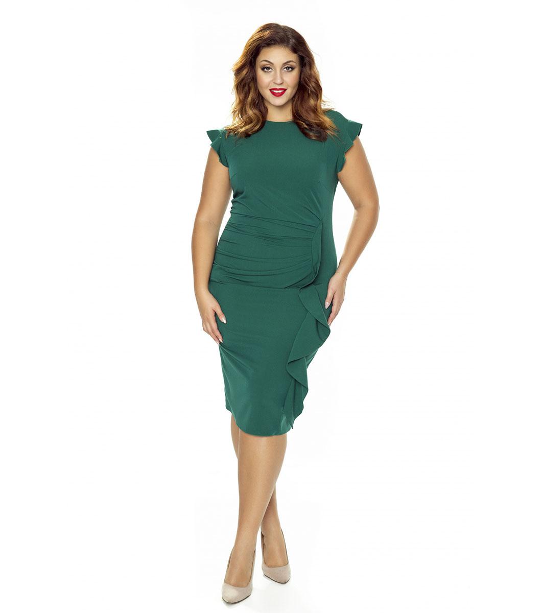 ed3a35044d3 Зелена рокля в макси размер с къдрички Elisa - 1867537 - Fashion ...
