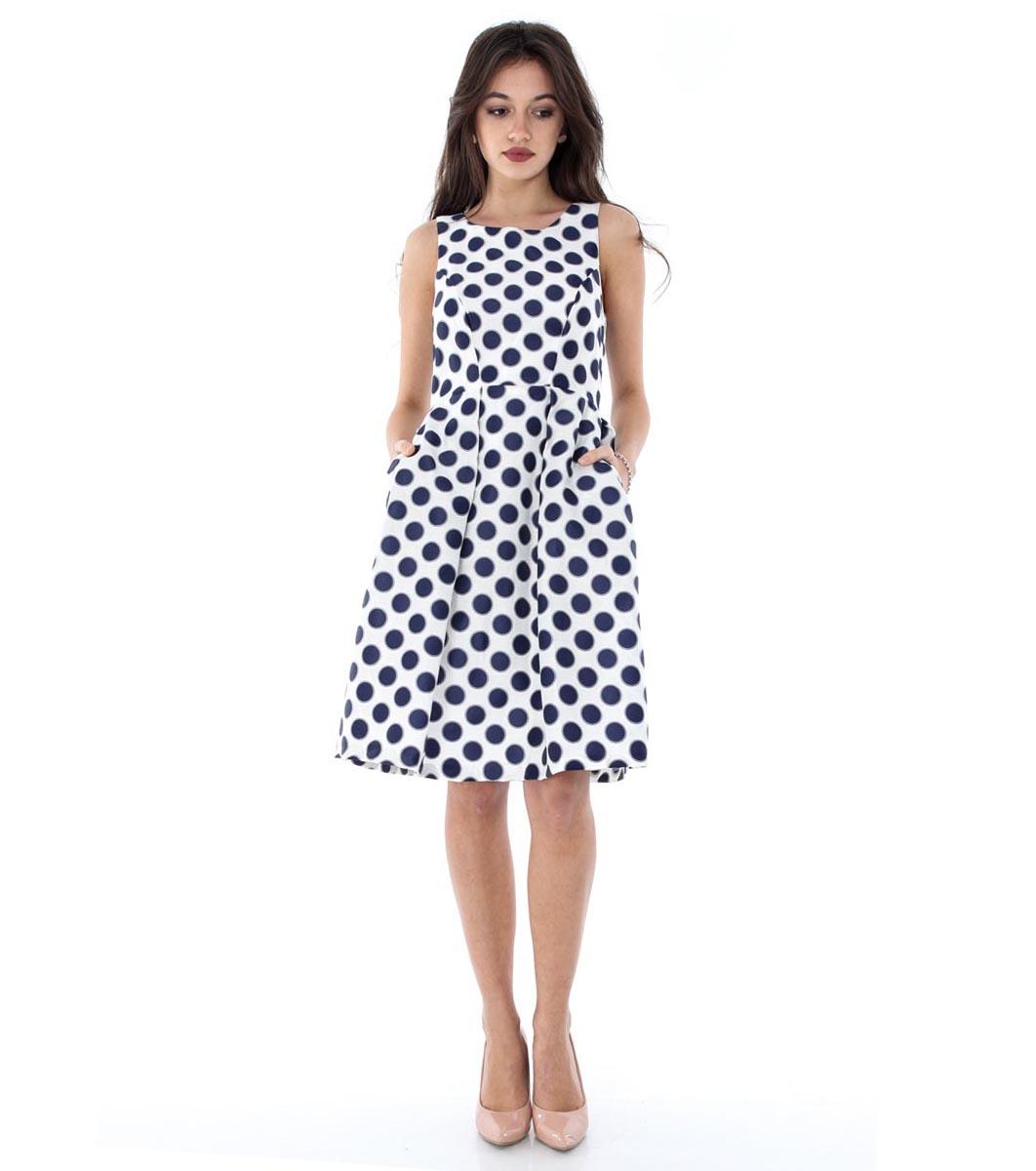 fca6de38204 Бяла рокля с точки в тъмносиньо - 1855841 - Fashion Supreme.co.uk