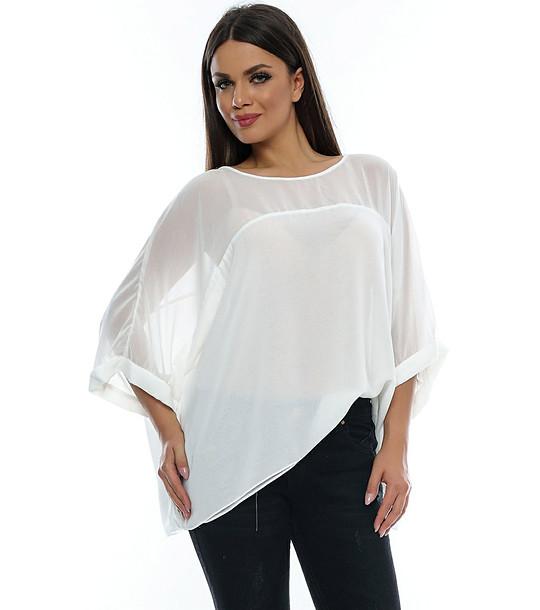 917253e0d40 Бяла ефирна дамска блуза Bamby - 2098740 - Fashion Supreme.co.uk