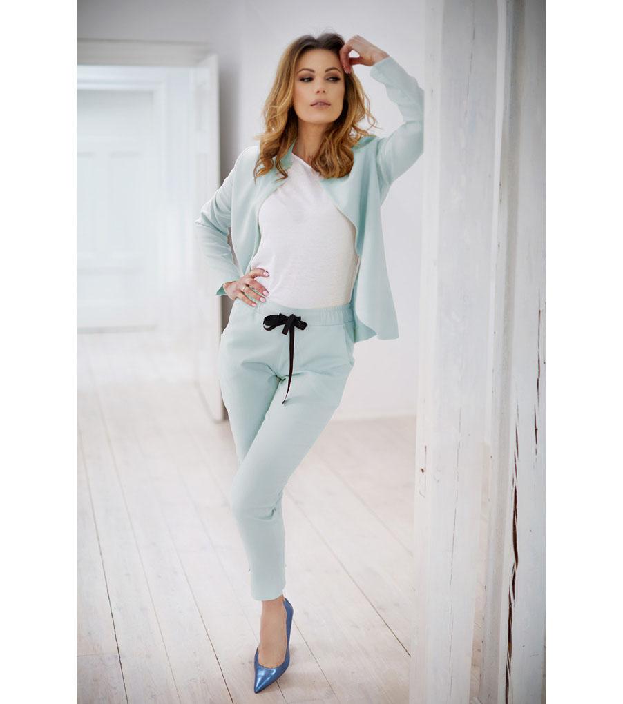 d8704b5fa38 Дамски костюм от сако и панталон в светлосиньо - 2311449 - Fashion ...