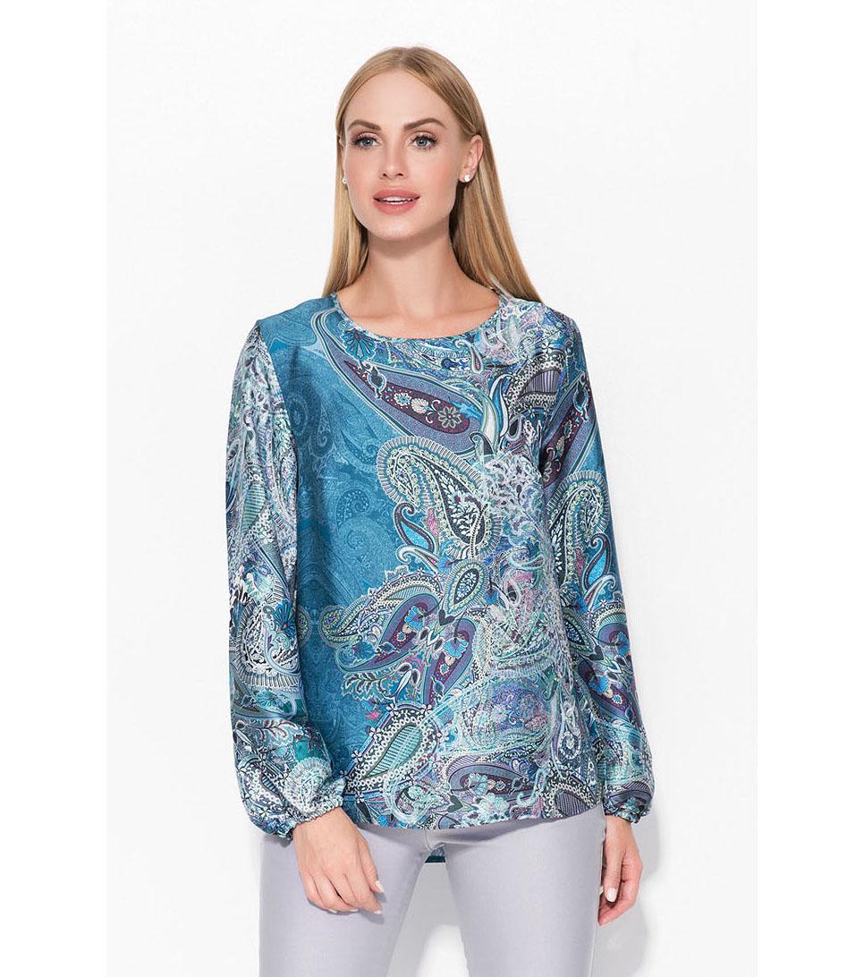 a8c7642a2fb Дамска блуза в сини нюанси с пейсли принт Giana - 2050548 - Fashion ...