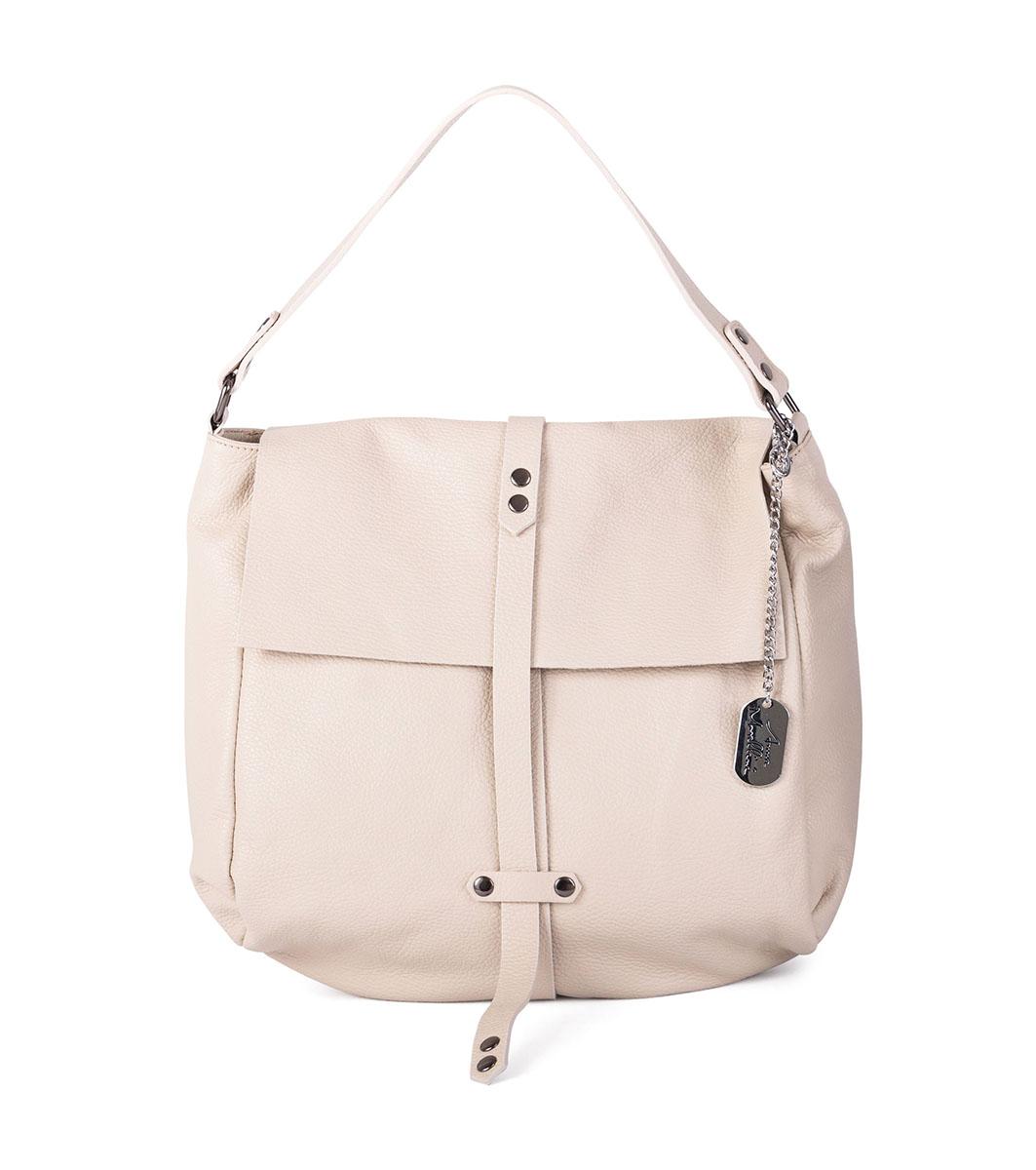 bc217991559 Светлобежова чанта от естествена кожа Zefira - 2389199 - Fashion ...