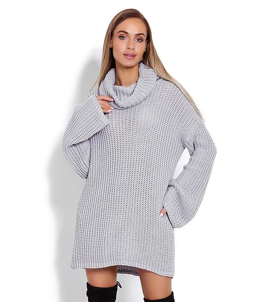 7aad2fd67d8 Дълъг дамски пуловер в сив нюанс Darlene - 2134320 - Fashion Supreme ...