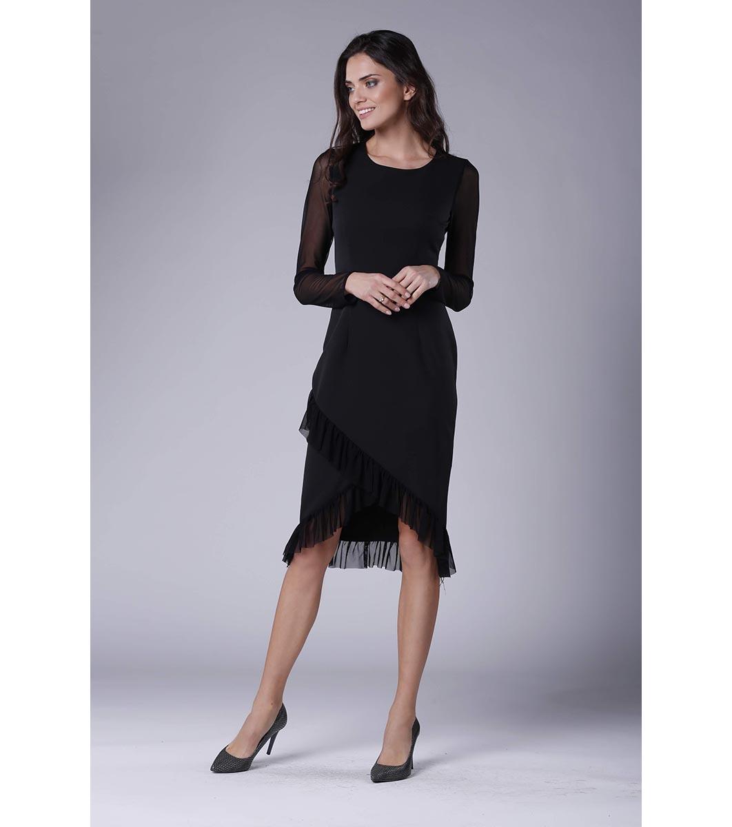 a0ed10fa763 Черна рокля с прозрачни ръкави Mevita - 2220540 - Fashion Supreme.co.uk